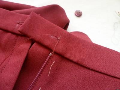 Гульфик Обработка неотрезного гульфика в женских брюках